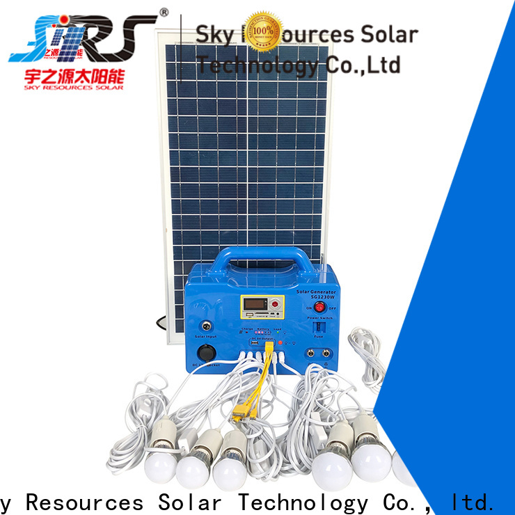 SRS install solar power system portable apply for house