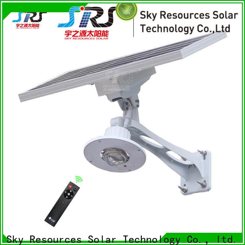 SRS garden solar light street lamp with sensor diagram for flagpole
