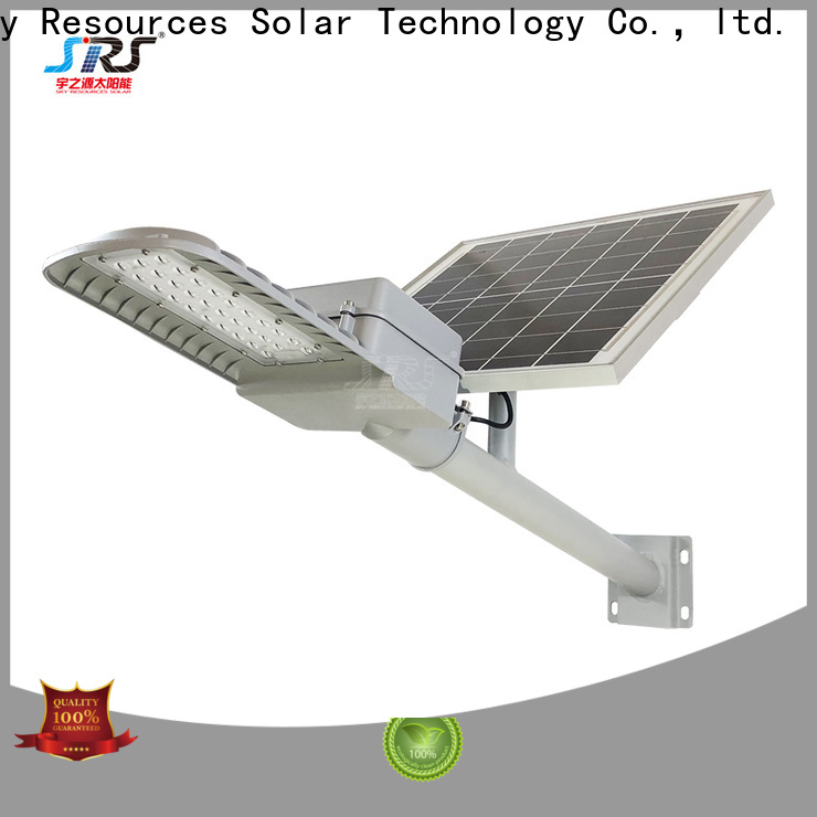 install solar street light with panel and battery 100w with battery for fence post
