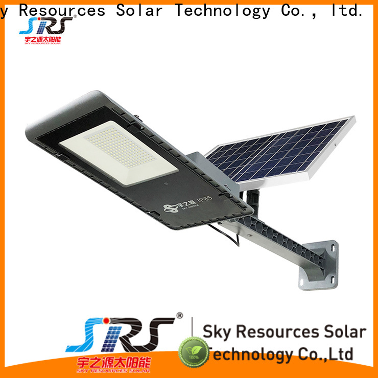 SRS cheap portable solar parking lot lights specification for fence post