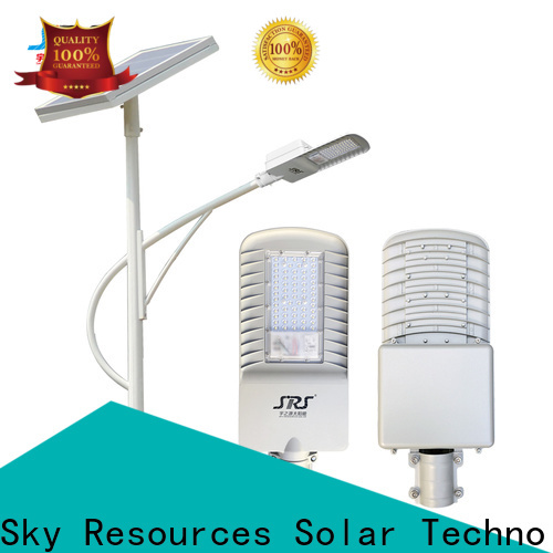 SRS 90w solar powered pole lamps configuration for school