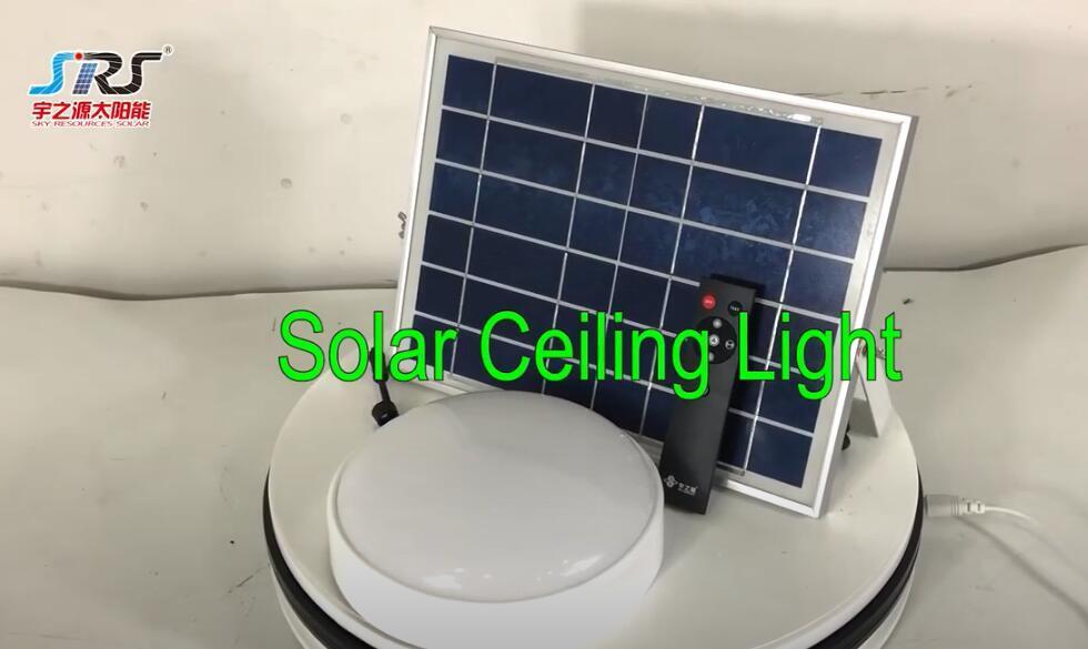 Remote Control Solar Power Ceiling Light 40W