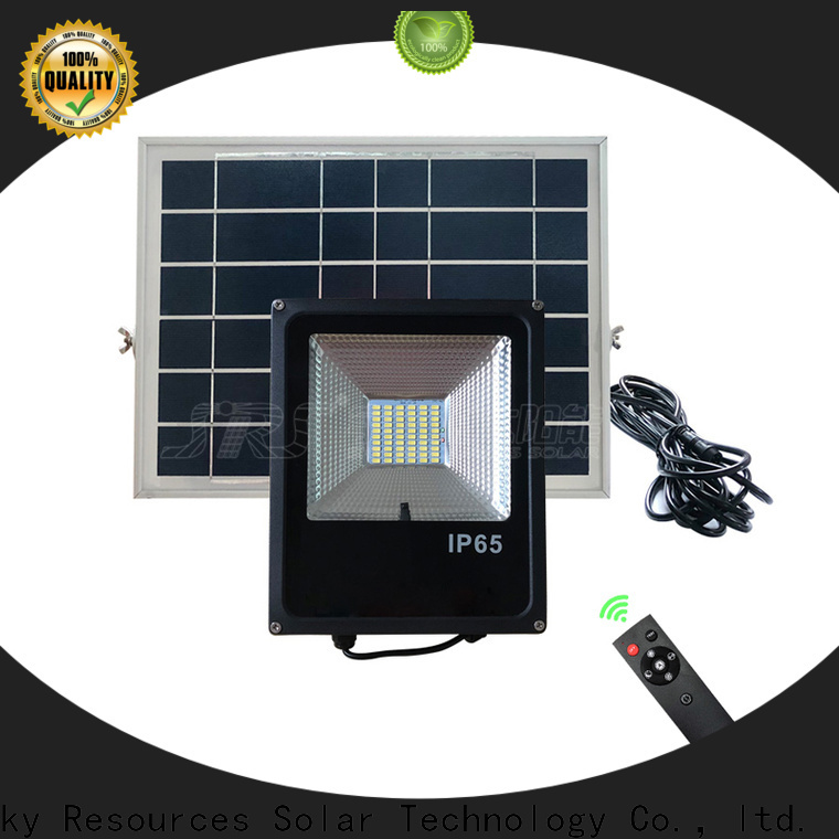 SRS smart best solar powered outdoor flood lights certification‎ for village