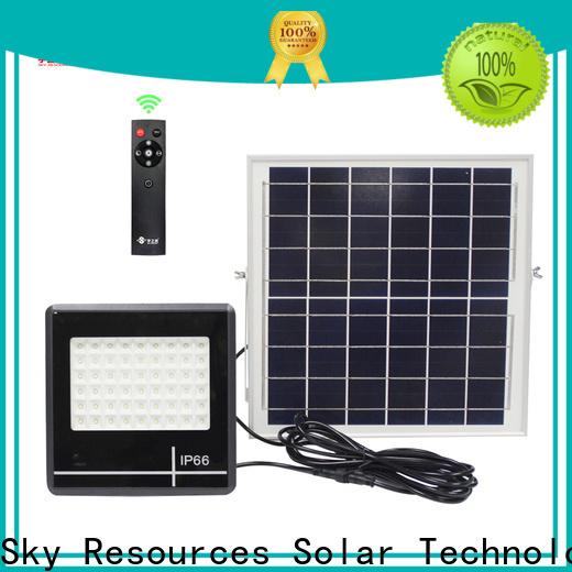 SRS smart cheap solar flood lights certification for home use