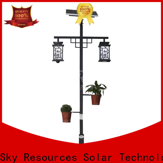 SRS high quality outdoor solar garden lights online service‎ for posts