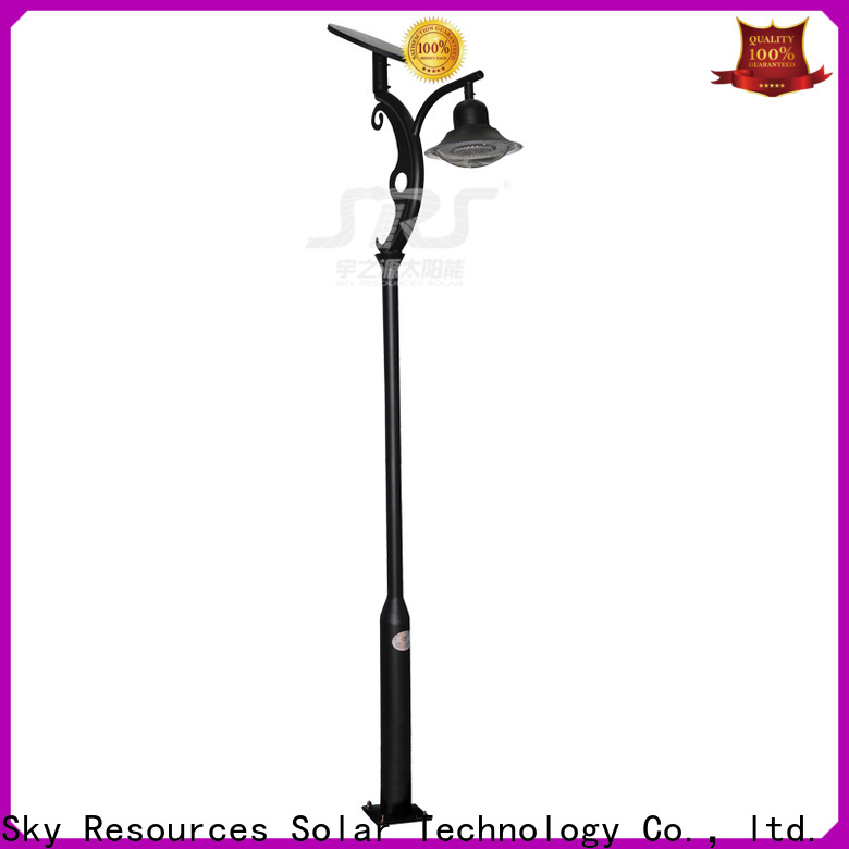 SRS smart warm white solar garden lights make in China for posts