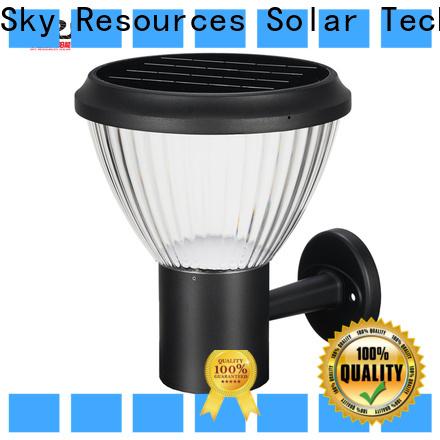 SRS black solar outdoor wall light fixtures company for school