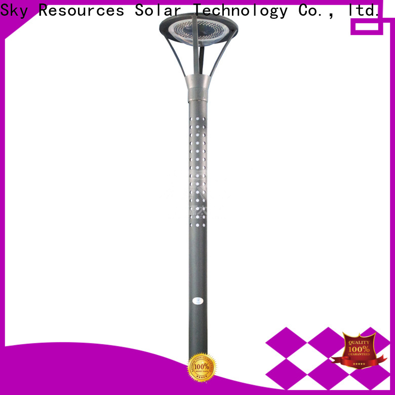 SRS national solar powered led garden lights make in China for shady areas