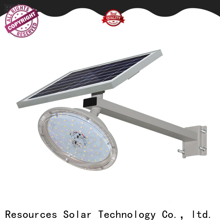 SRS install solar powered led street light with intensity control with battery for flagpole