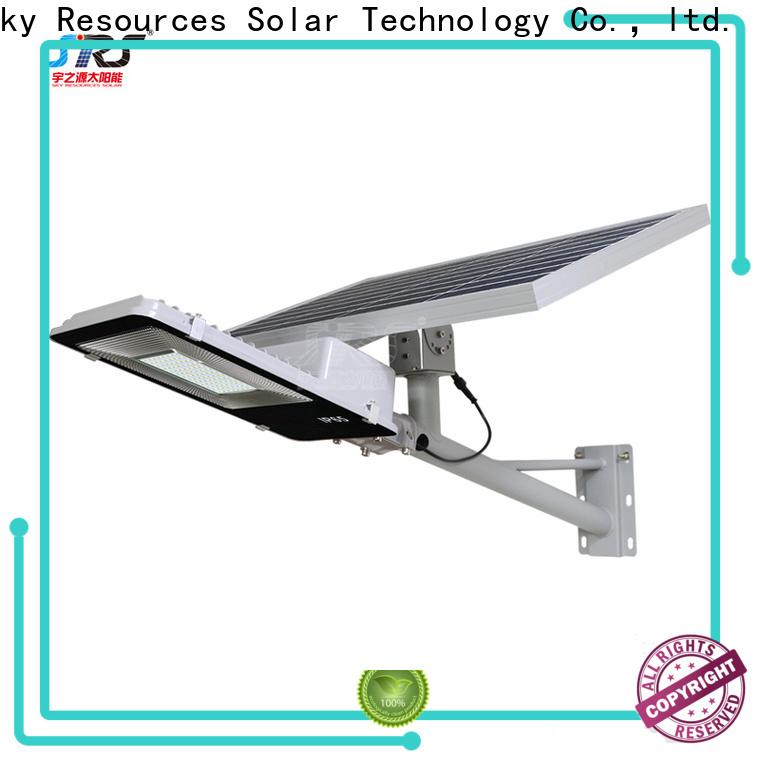 SRS fix solar light street lamp with sensor specification for school