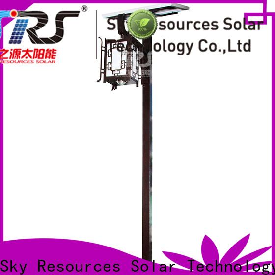 SRS steel garden solar panels supply for posts