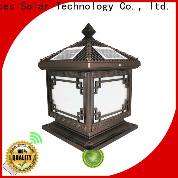 High-quality solar pillar lamp outdoor for business for home use