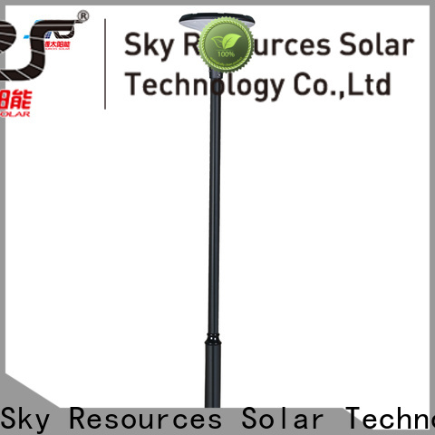 New solar powered garden lamps rgb factory for posts