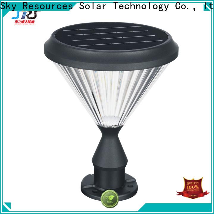 SRS columns light bulb solar garden lights suppliers for pathway