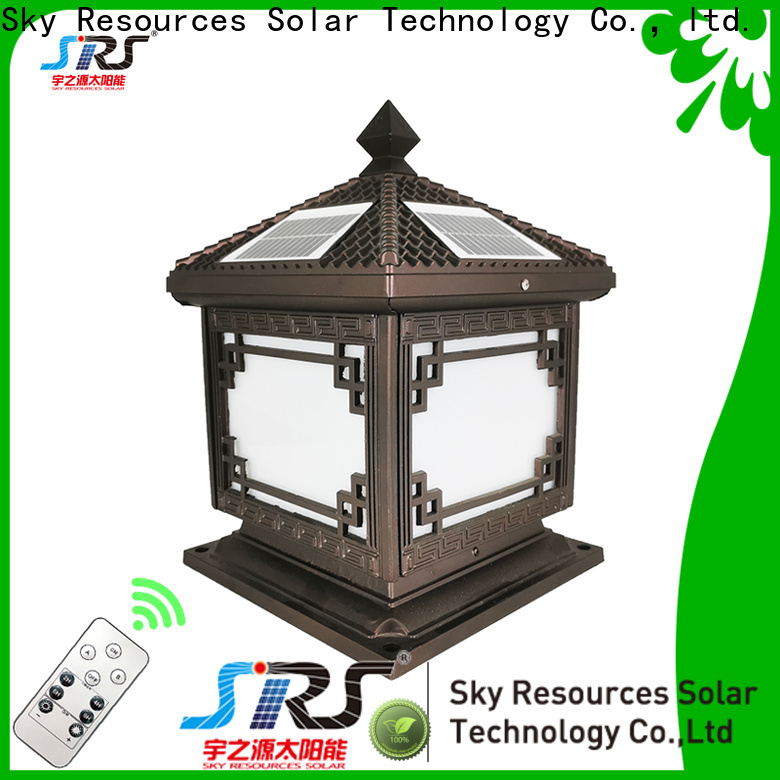 SRS Latest solar lights for patio pillars suppliers for home use