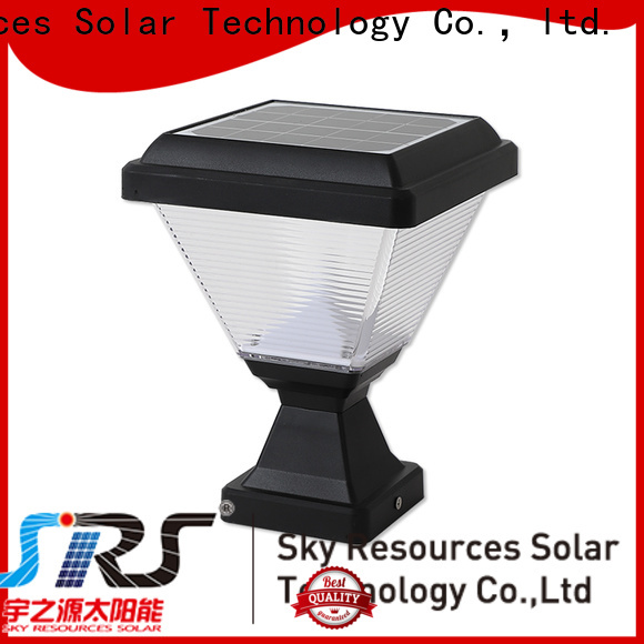 SRS wall solar powered gate post lights manufacturers for home use