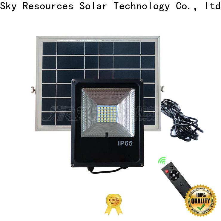 SRS brightest solar twin head floodlight manufacturers for home use