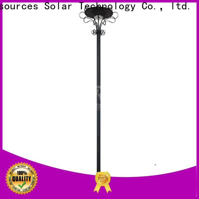 Custom solar powered garden lights lamp company for posts