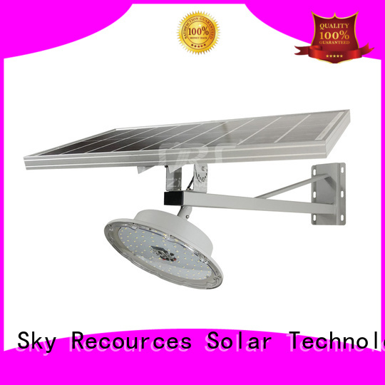 SRS semi-integrated solar street light with battery for flagpole