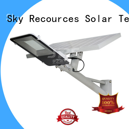 SRS semi-integrated solar street light diagram for fence post