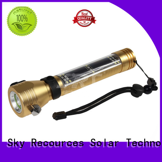 integrating solar rechargeable led flashlight make in China for pathway