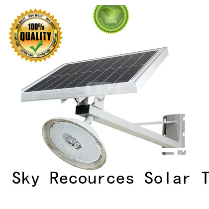 SRS bifacial solar led lights manufacturers diagram for flagpole