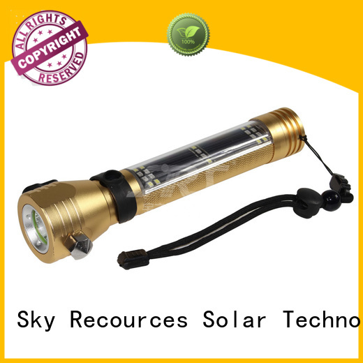 SRS automatic hybrid solar powered flashlight online service for pathway