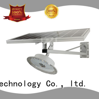 SRS solar street light with panel and battery configuration for school