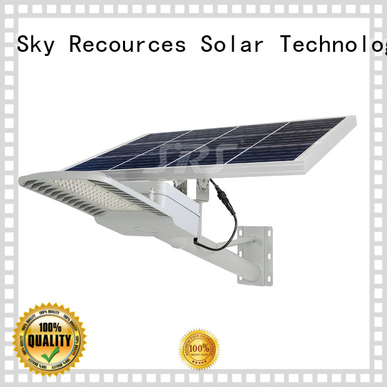 integrated solar led street light configuration for fence post SRS