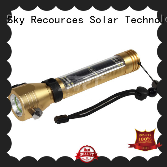 solar rechargeable led flashlight for school SRS