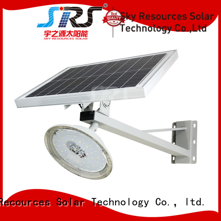 SRS install solar road light configuration for school