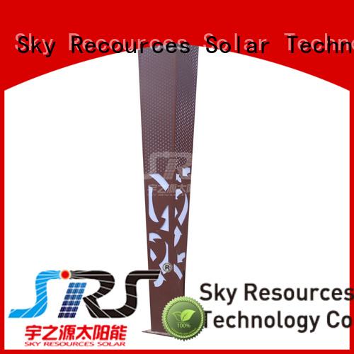 SRS solar garden path lights export for walls