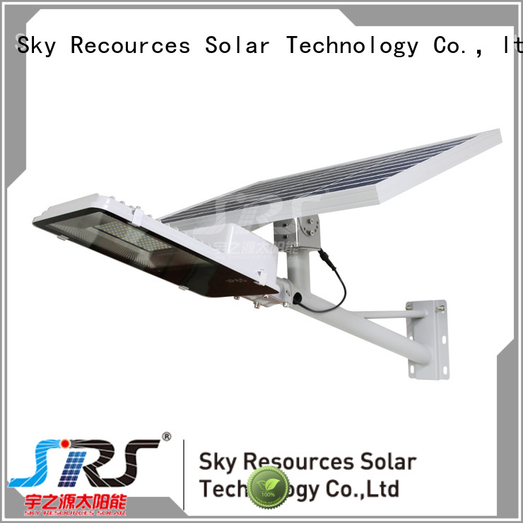 SRS integrated solar led street light diagram for fence post
