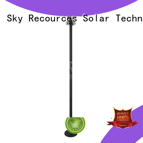 SRS solar powered yard lights make in China for posts
