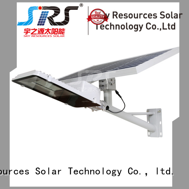 SRS solar led street light suppliers specification for fence post