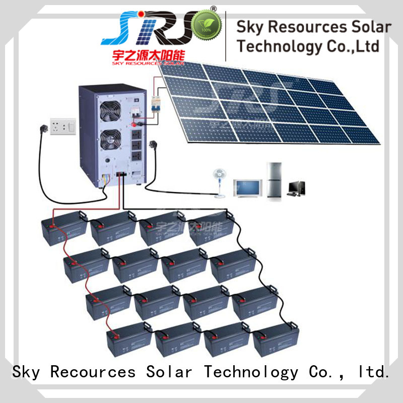 SRS high powered solar power system installation apply for house
