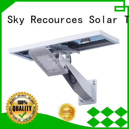 SRS fix decorative solar street lights with battery for garden