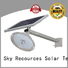 bifacial solar street light with panel and battery with battery for fence post