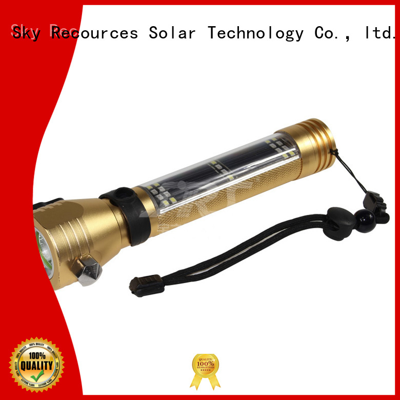 SRS hybrid light solar flashlight online service‎ for home use
