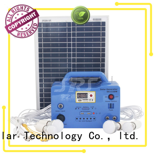 SRS portable solar home lighting system factory for home
