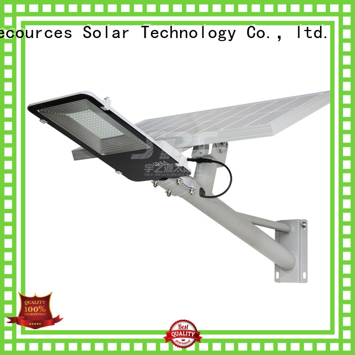 install solar street light with panel and battery configuration for garden