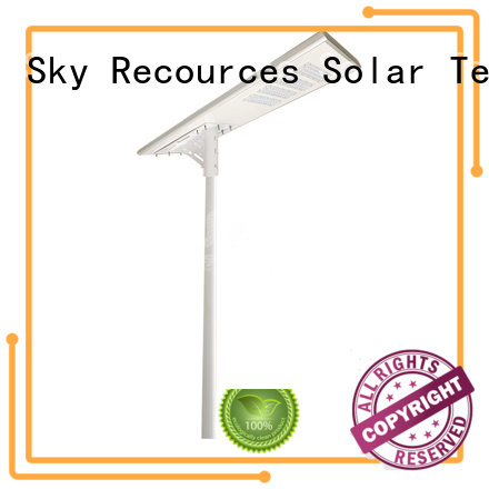 SRS automatic outdoor solar street lights on sale for public lighting