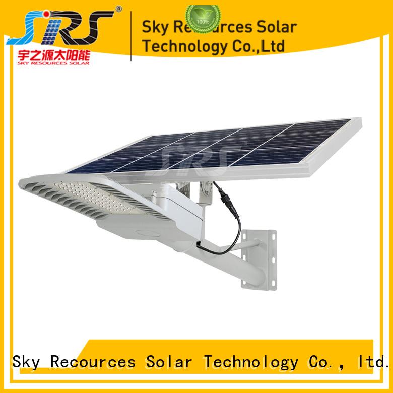 SRS cheap luminous solar street light configuration for fence post