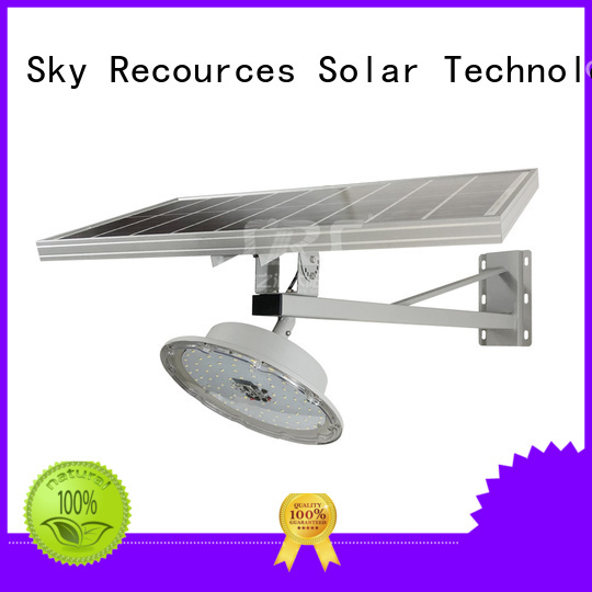 SRS solar compound lights configuration for fence post
