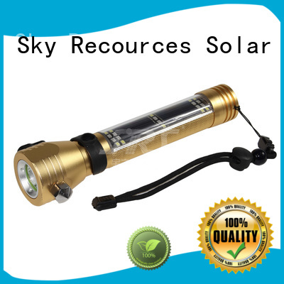 SRS smart hybrid solar powered flashlight project for pathway