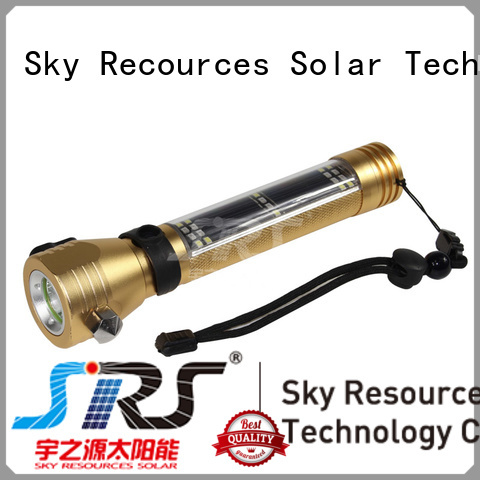 SRS solar rechargeable led flashlight online service‎ for pathway