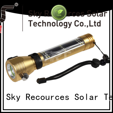 automatic solar rechargeable led flashlight online service‎