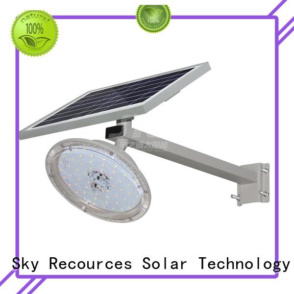 SRS luminous solar street light diagram for flagpole