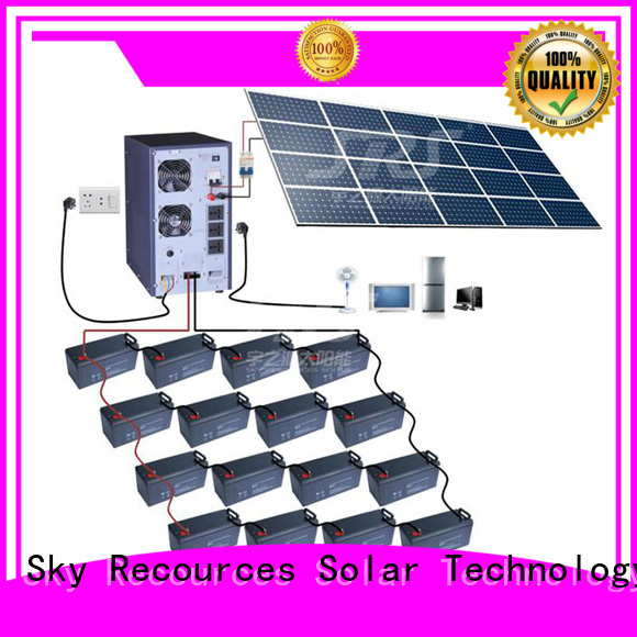 SRS high powered on grid solar system application for school