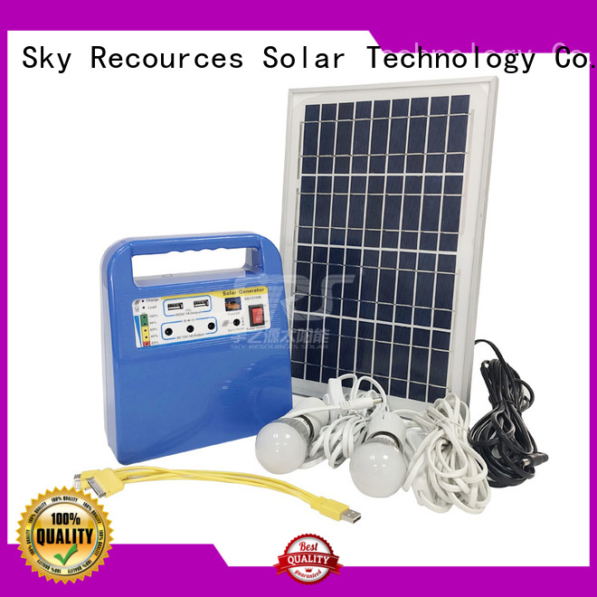 SRS quality portable solar system factory for home